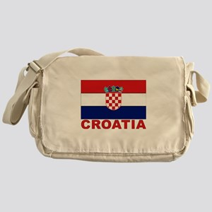 Croatia Flag Messenger Bag
