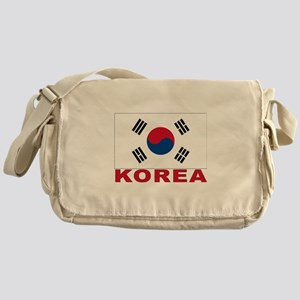 South Korea Flag Messenger Bag