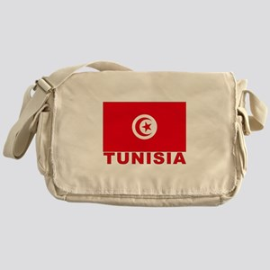 Tunisia Flag Messenger Bag