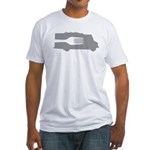 Food Truck: Side/Fork (Gray) Fitted T-Shirt