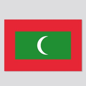 The Maldives Flag Postcards (Package of 8)