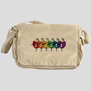 Rainbow CanCan Dancers Messenger Bag
