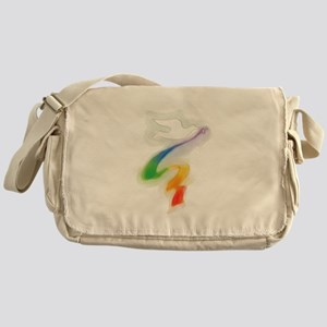 Dove with Rainbow Ribbon Messenger Bag