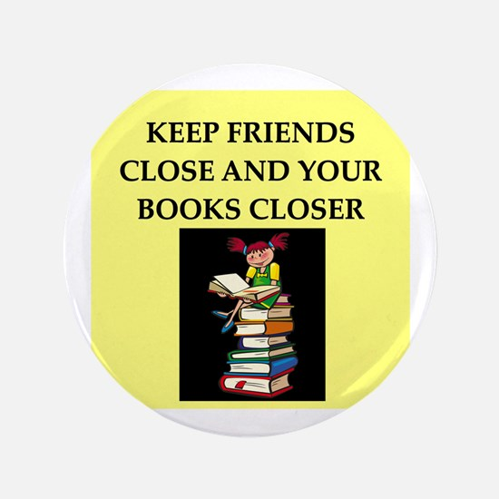 "book lovers joke 3.5"" Button"