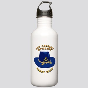 Army - 1st Cav - 1st Team Stainless Water Bottle 1