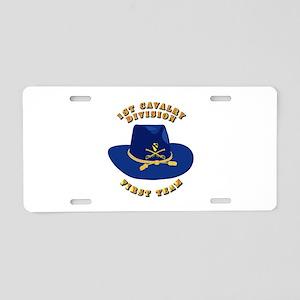 Army - 1st Cav - 1st Team Aluminum License Plate