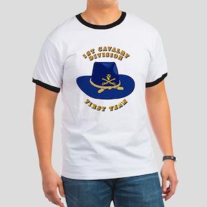 Army - 1st Cav - 1st Team Ringer T