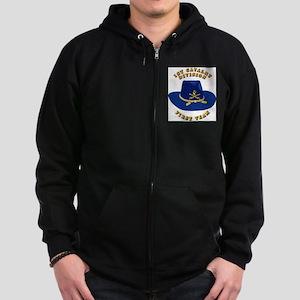 Army - 1st Cav - 1st Team Zip Hoodie (dark)