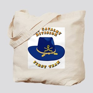 Army - 1st Cav - 1st Team Tote Bag