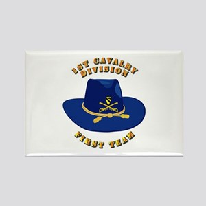 Army - 1st Cav - 1st Team Rectangle Magnet