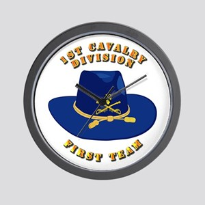 Army - 1st Cav - 1st Team Wall Clock