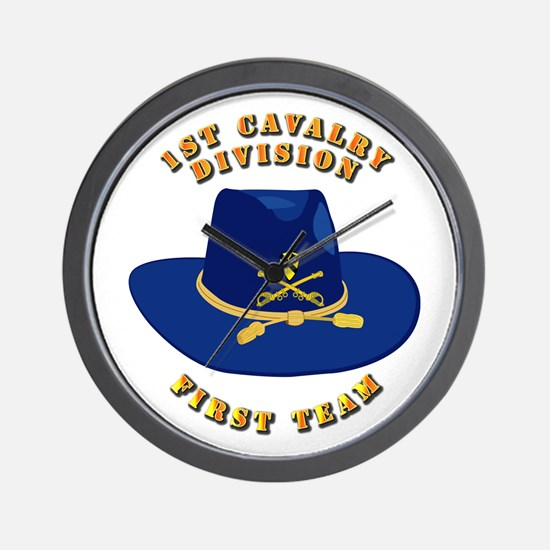 Army - 1st Cav - 1st Team Wall Clock
