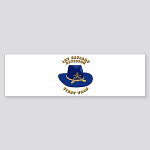 Army - 1st Cav - 1st Team Sticker (Bumper)