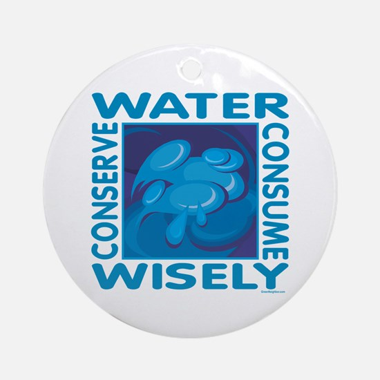 Water Conservation Ornament (Round)