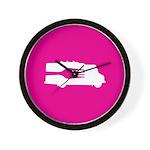 Food Truck: Side/Fork (Pink) Wall Clock