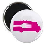 Food Truck: Side/Fork (Pink) Magnet