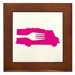 Food Truck: Side/Fork (Pink) Framed Tile