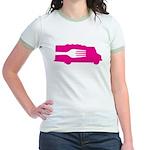 Food Truck: Side/Fork (Pink) Jr. Ringer T-Shirt