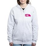 Food Truck: Side/Fork (Pink) Women's Zip Hoodie