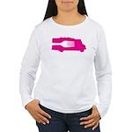 Food Truck: Side/Fork (Pink) Women's Long Sleeve T
