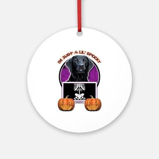 Just a Lil Spooky Labrador Ornament (Round)