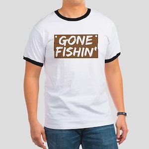 Gone Fishin' (Fishing) Ringer T
