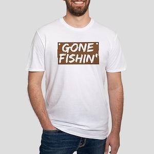 Gone Fishin' (Fishing) Fitted T-Shirt