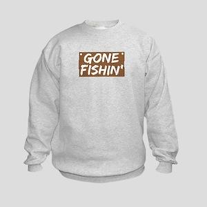Gone Fishin' (Fishing) Kids Sweatshirt