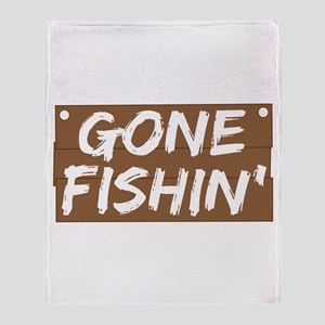 Gone Fishin' (Fishing) Throw Blanket