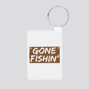 Gone Fishin' (Fishing) Aluminum Photo Keychain
