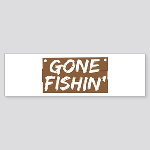 Gone Fishin' (Fishing) Sticker (Bumper)