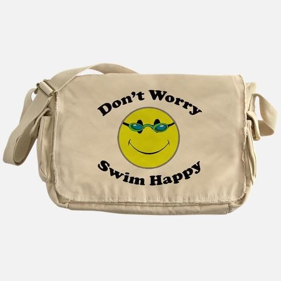 Don't Worry Swim Happy Messenger Bag