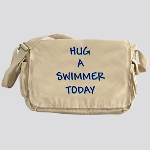 Hug a Swimmer Messenger Bag