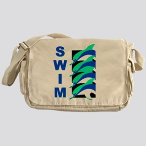 Swim Dolphins Messenger Bag