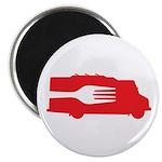 Food Truck: Side/Fork (Red) Magnet