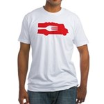 Food Truck: Side/Fork (Red) Fitted T-Shirt
