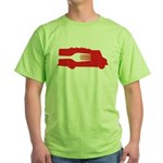 Food Truck: Side/Fork (Red) Green T-Shirt