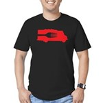 Food Truck: Side/Fork (Red) Men's Fitted T-Shirt (