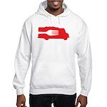 Food Truck: Side/Fork (Red) Hooded Sweatshirt