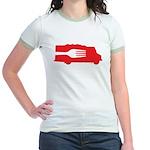 Food Truck: Side/Fork (Red) Jr. Ringer T-Shirt