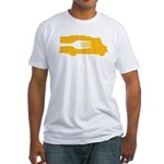 Food Truck: Side/Fork (Yellow) Fitted T-Shirt