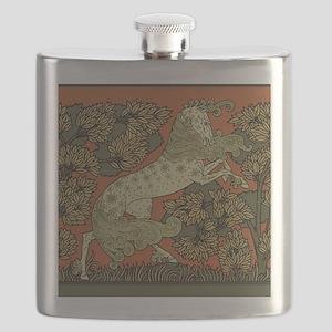 Antique Horse Graphic Design Flask