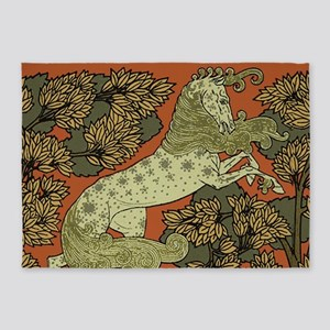 Antique Horse Graphic Design 5'x7'Area Rug