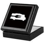 Food Truck: Side/Fork (Black/White) Keepsake Box