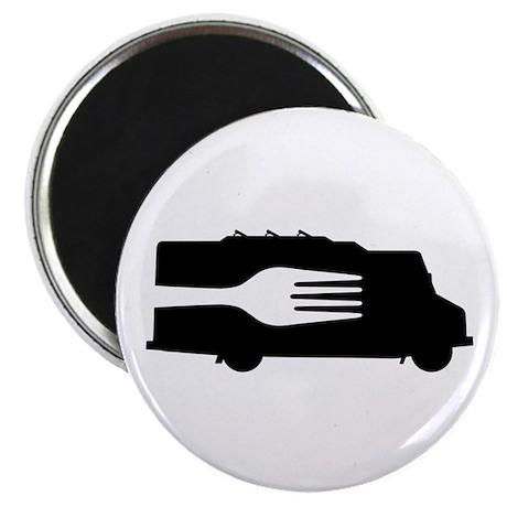 Food Truck: Side/Fork (Black/White) Magnet