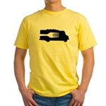 Food Truck: Side/Fork (Black/White) Yellow T-Shirt