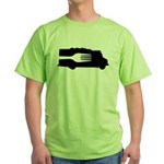 Food Truck: Side/Fork (Black/White) Green T-Shirt