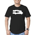Food Truck: Side/Fork (Black/White) Men's Fitted T