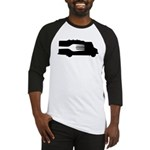 Food Truck: Side/Fork (Black/White) Baseball Jerse