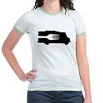 Food Truck: Side/Fork (Black/White) Jr. Ringer T-S